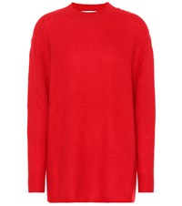 Ryan Roche Cashmere And Silk Sweater Red