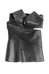 Alexander Mcqueen Leather Bustier Black