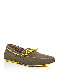 Swims Braided Lace Rubber Loafers Khaki