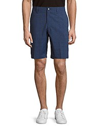 Callaway Windowpane Check Shorts Peacoat