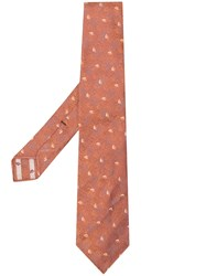 Kiton Patterned Tie Brown