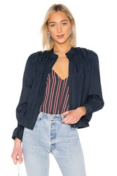 Frame Smocked Jacket Navy