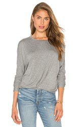 Bobi Tencel Jersey Drape Front Top Grey