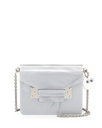 Sophie Hulme Acrylic Envelope Crossbody Bag Gray Grey W Silver