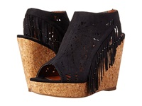 Not Rated Fringe Delight Black Women's Wedge Shoes