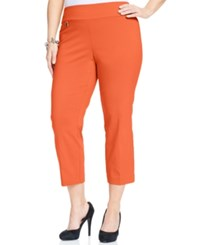Alfani Plus Size Pull On Capri Pants Only At Macy's Brushed Coral
