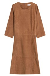 Closed Suede Dress Brown