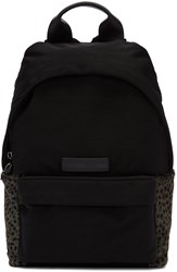 Mcq By Alexander Mcqueen Black Nylon Leopard Backpack