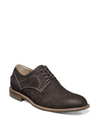 Florsheim Contrast Stitched Leather Oxford Shoes Brown Nubuck