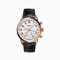 Tiffany And Co. Ct60 Dual Time 40 Mm Watch In 18K Rose Gold.