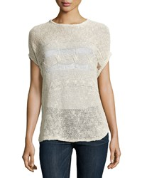 Neiman Marcus Dolman Sleeve Chunky Knit Tunic Natural