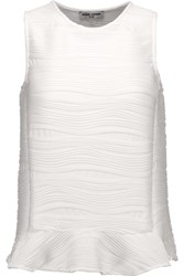 Opening Ceremony Wavy Jacquard Top White