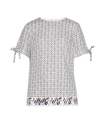 Ted Baker Laylei Geo Floral Print T Shirt Grey