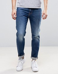 Love Moschino Regular Fit Mid Wash Blue Jeans Blue