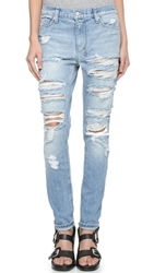 Ksubi Slim Straight Destroyed Jeans Hay Day Mayday Destroy
