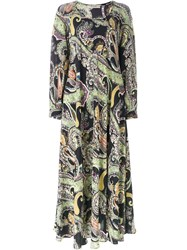 Etro Paisley Print Maxi Dress Black