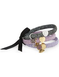 Marc Jacobs Candy Swirl Hairband Cluster Metallic Lilac