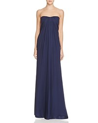 Aidan Mattox Strapless Silk Chiffon Gown Twilight