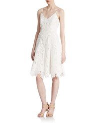 Vera Wang Floral Lace Dress Ivory