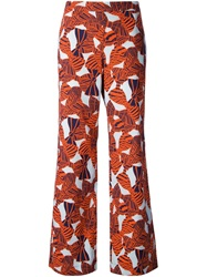 L'autre Chose Printed Flared Trousers