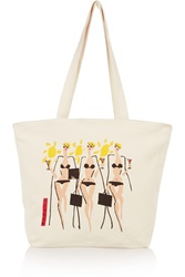Solid And Striped Donald Robertson Martini Printed Canvas Tote