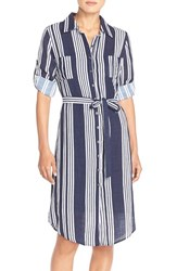 Women's Kut From The Kloth Stripe Woven Shirtdress