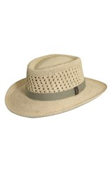Men's Scala Raffia Gambler Hat