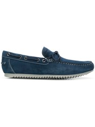 Geox Classic Bow Loafers Blue