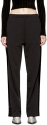 Maison Martin Margiela Mm6 Black Velvet Panel Lounge Pants