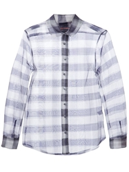 Harvey Faircloth Checked Sheer Shirt Pink And Purple