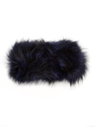 Adrienne Landau Fox Fur Headband Blue