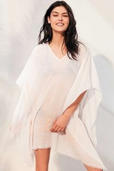 Ecote Embroidered Beach Poncho Ivory