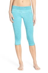 Women's Pink Lotus Banded Back Capris