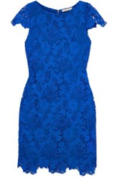 Alice Olivia Guipure Lace Mini Dress Blue