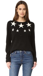 Chinti And Parker Star Cashmere Sweater Black Cream