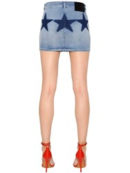 Givenchy Cotton Denim Mini Skirt W Stars