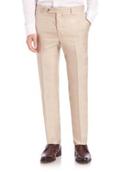 Saks Fifth Avenue Pleated Wool And Silk Trousers