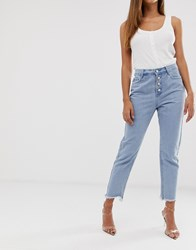 Missguided Wrath Jeans In Stonewash Blue