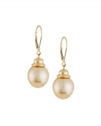 Belpearl 14K Golden South Sea Pearl Drop Earrings