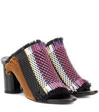 Proenza Schouler Fabric And Leather Slip On Sandals Multicoloured