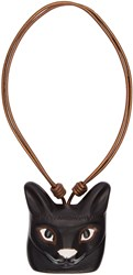 Loewe Black Cat Face Necklace