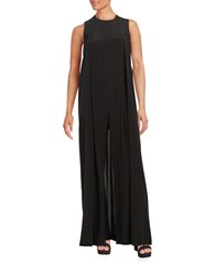 Dkny Sleeveless Wide Leg Jumpsuit With Back Cape Black