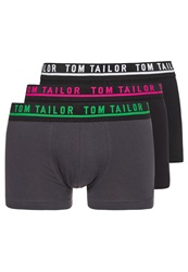 Tom Tailor 3 Pack Shorts Raspberry Black Anthra
