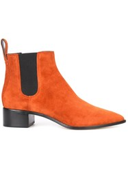 Loeffler Randall Chelsea Boots Yellow Orange