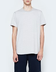 Reigning Champ Ss Scalloped Crewneck Tiger Jersey In Grey