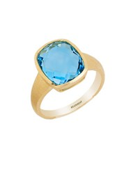 Effy Ocean Bleu Topaz And 14K Yellow Gold Ring Blue