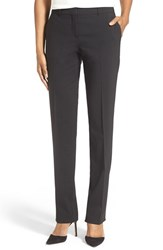 Women's Boss 'Temea' Stretch Wool Straight Leg Trousers