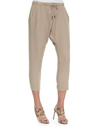 Eileen Fisher Satin Drawstring Harem Ankle Pants Women's