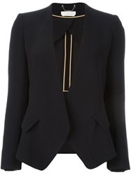Chloe Collarless Blazer Blue