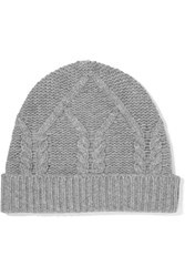 Frame Cable Knit Wool And Cashmere Blend Beanie Gray Usd